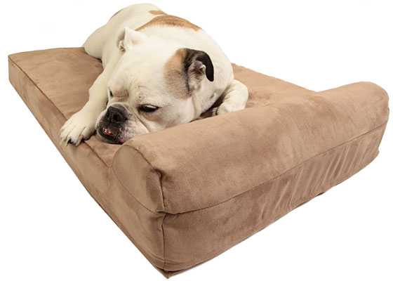 "Big Barker Mini - 4"" Pillow Top Orthopedic Dog Bed with Headrest"