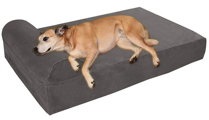 "Big Barker 7"" Pillow Top Orthopedic Dog Bed for Large and Extra Large Breed Dogs (Sleek Edition)"