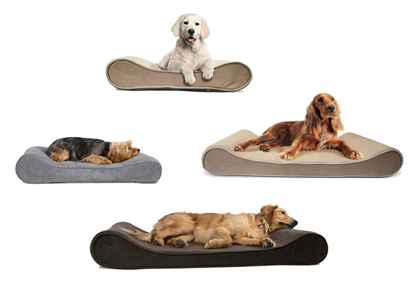 FurHaven Pet Dog Bed | Orthopedic Microvelvet Luxe Lounger