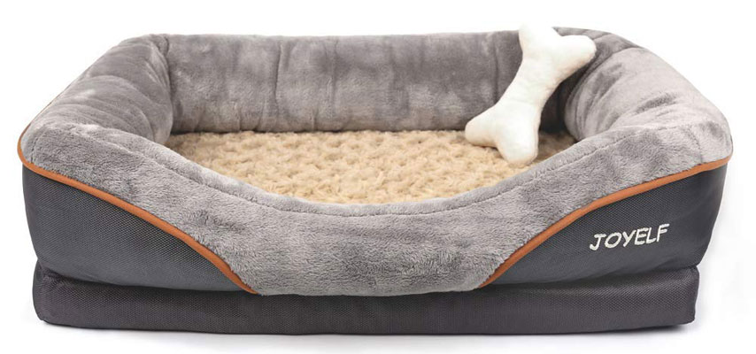 OYELF Orthopedic Memory Foam Dog Bed
