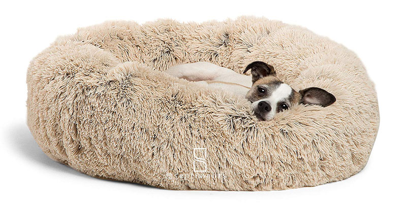 Luxury Shag Fuax Fur Donut Cuddler