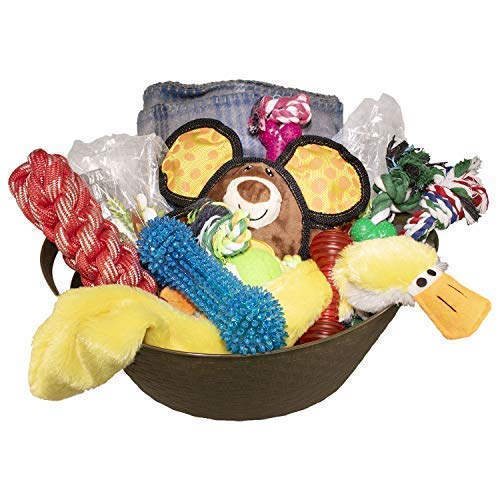 Gift Basket with Durable Dog Toys