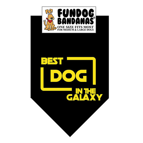 Best Dog in the Galaxy Dog Bandana