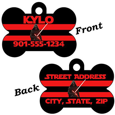 Star Wars 2-Sided Pet Id Dog Tag (Kylo Ren)