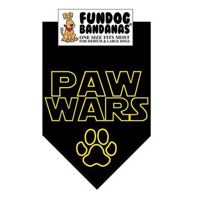 Paw Wars Dog Bandana